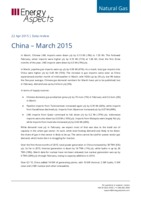 China gas data - March 2015 cover