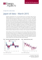 Japan oil data – March 2015 cover image