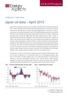 Japan oil data – April 2015 cover image