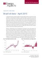 Brazil oil data – April 2015 cover image