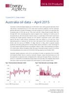 Australia oil data – April 2015 cover image