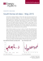 South Korea oil data – May 2015 cover image
