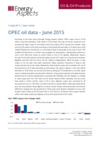 OPEC oil data – June 2015 cover image