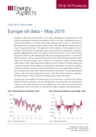 Europe oil data - May 2015 cover image