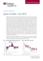 Japan oil data - June 2015 cover image