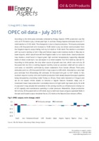 OPEC oil data – July 2015 cover image