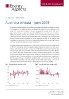 Australia oil data - June 2015 cover image