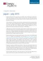 Japan gas data - July 2015 cover image