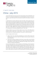 China gas data - July 2015 cover image