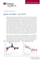 Japan oil data - July 2015 cover image