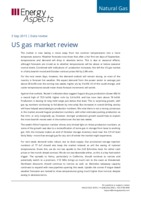 US gas market review cover