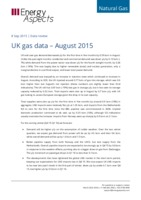 UK gas data – August 2015 cover image