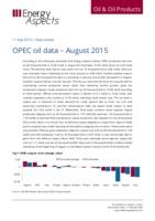 OPEC oil data – August 2015 cover