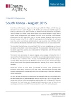 South Korea gas data - August 2015 cover image