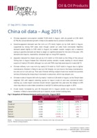 China oil data - Aug 2015 cover image