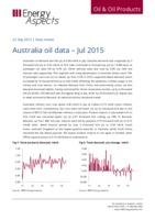 Australia oil data – Jul 2015 cover image
