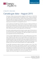 Canada gas data - August 2015 cover image