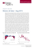 Mexico oil data - August 2015 cover image