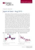 Japan oil data – Aug 2015 cover image