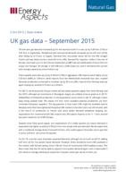UK gas data – September 2015 cover image