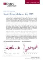 South Korea oil data - Sep 2015 cover image