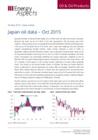 Japan oil data – Oct 2015 cover image