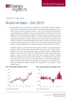 Brazil oil data - Oct 2015 cover image