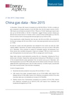 China gas data - November 2015 cover image