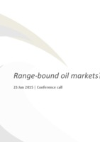 Range-bound oil markets (conference call) cover