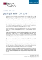 Japan gas data - December 2015 cover image