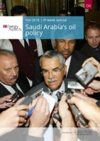 Saudi Arabia's Oil Policy cover