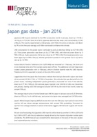 Japan gas data - January 2016 cover image