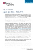 Japan gas data - February 2016 cover image