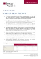 China oil data - February 2016 cover image