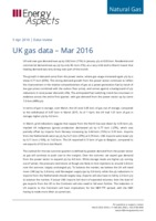 UK gas data – March 2016 cover image