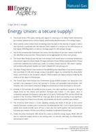 Energy Union: a secure supply? cover image
