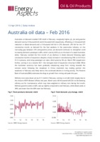 Australia oil data – Feb 2016 cover image