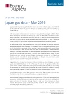 Japan gas data - March 2016 cover image