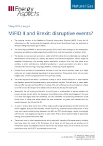 MiFID II and Brexit: disruptive events? cover image