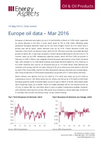Europe oil data - Mar 2016 cover image