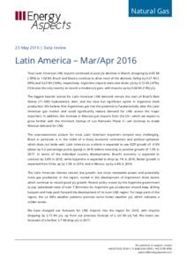 Latin America gas data cover image