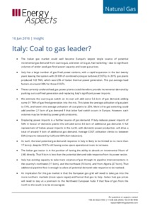 Italy: Coal to gas leader? cover image