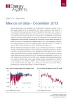 Mexico oil data – December 2013 cover image