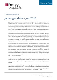 Japan gas data – Jun 2016 cover image