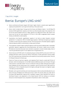 Iberia: Europe's LNG sink? cover image