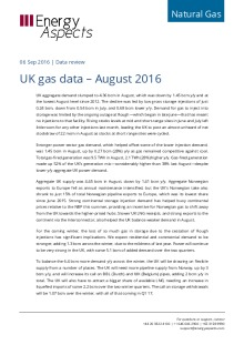 UK gas data – August 2016 cover image