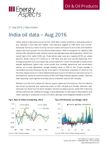 India oil data – Aug 2016 cover image