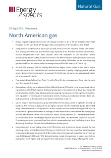North American gas cover image