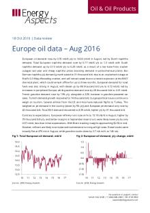 Europe oil data – Aug 2016 cover image