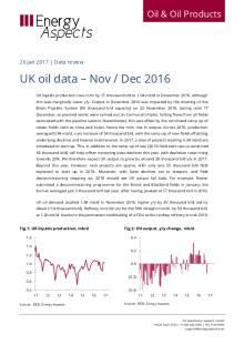 UK oil data – Nov / Dec 2016 cover image